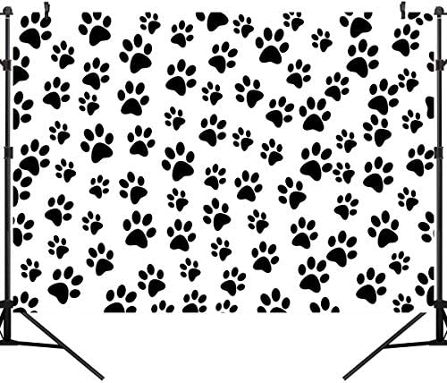 8x12 FT Dog Lover Vinyl Photography Backdrop,Sketch Style Hand Drawn Jack Russell Terrier Doodles in Various Stances Purebred Background for Baby Shower Bridal Wedding Studio Photography Pictures