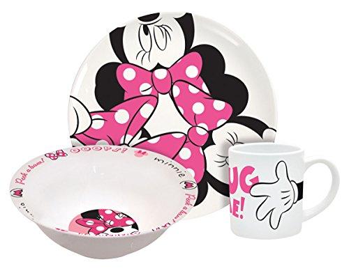 Disney Minnie Hug Me Dinnerware Set, 3-Piece (Disney Dinnerware)