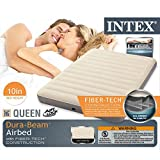 Intex Deluxe Single-High Dura-Beam Airbed with Fiber-Tech Construction, Queen
