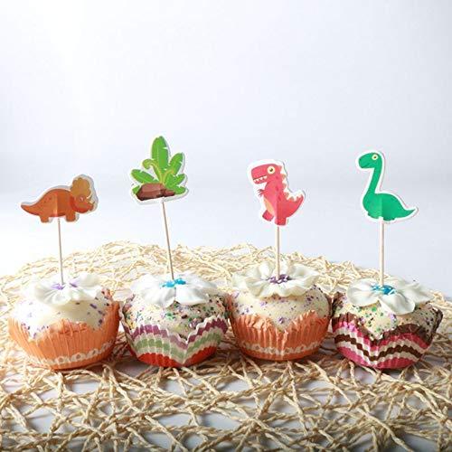 Cake Decorating Supplies - 24 Pcs Set Boy Girls Birthday Wedding Party Kawaii Cool Dinosaur Jungle Cupcake Per Baby Shower - Paint Flowers Mold Year Buddy Supplies Professional Gold -