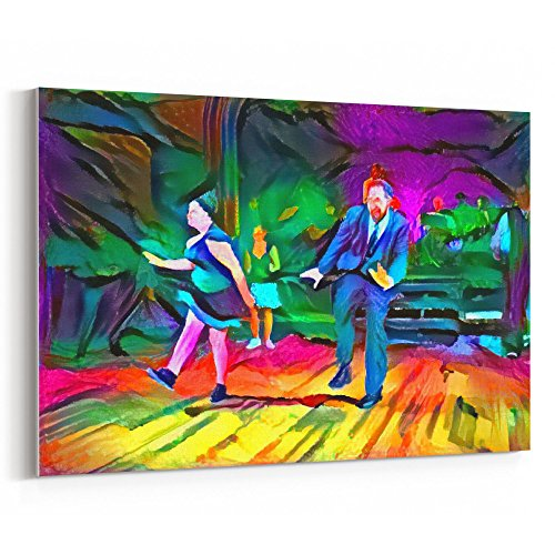 Westlake Art Tap Dance Lover 18x12 inch Modern Canvas Wrap Artwork Abstract Paintings Pictures Printed Wall Art for Home Office Decorations Unique Gift Idea Francis Abstract Painting