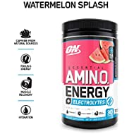 Optimum Nutrition Amino Energy + Electrolytes, Watermelon Splash, 30 Servings