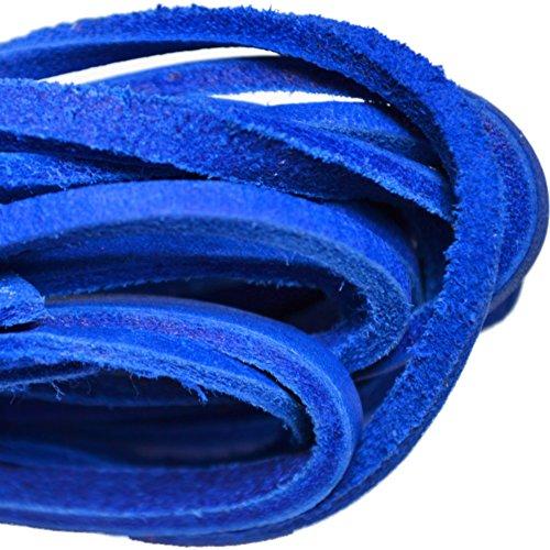 Cordones De Bota De Cuero Tofl - Corte De Tamaño Fácil Para Adaptarse A Azul