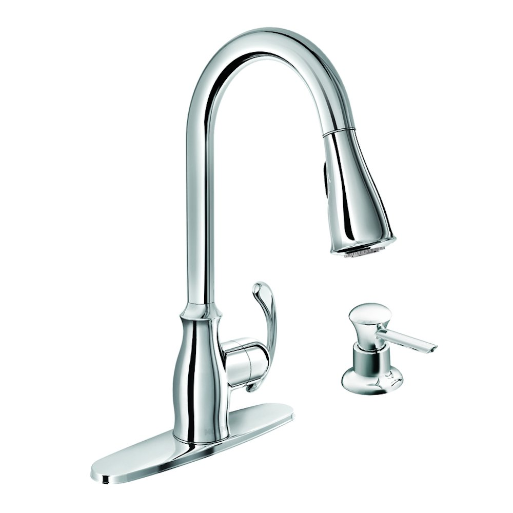 Aviditi Olympia Series L-6171-E1.5-BN Elite Single Metal Loop Handle Lavatory Faucet with 1.5 GPM Flow Rate Brushed Nickle