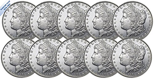 (1878-1904) Morgan Silver Dollar (BU) Ten Coins Brilliant Uncirculated