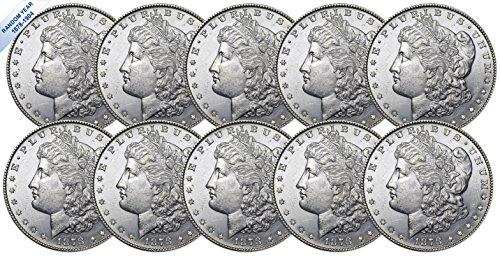 Morgan Dollar Set ((1878-1904) Morgan Silver Dollar (BU) Ten Coins Brilliant Uncirculated)