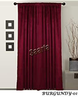 SAARIA BURGUNDY BACKDROP VELVET CURTAINS STAGE STUDIO MOVIE HOME THEATER  SCHOOL STAGE CHURCH 20 Ft W X