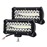 7 Inch LED Light Bar LED Pods YITAMOTOR 2PCS 240W Spot Flood Combo Light 32000LM Waterproof LED Work Light Off Road Driving Fog Lamps Compatible for Jeep Truck Tractor Pickup Boat UTV ATV
