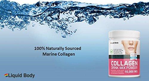 Líquido Cuerpo Hidrolizado Colágeno Marino Bebida Mix Polvo Enriquecido con 19 Aminoácidos 300 g Soporte Piel,Cabello, Uñas Y Piel & Articulaciones 100% ...