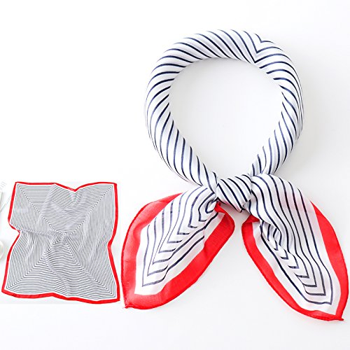 Green edges red Scarf Fruit Coloured Stripes Coloured Scarf Green RSxHwqtx6Z