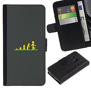 Evolución de Escaleras niños Pósteres- la tarjeta de Crédito Slots PU Funda de cuero Monedero caso cubierta de piel ParaSamsung Galaxy S3 MINI i8190 (NOT S3)