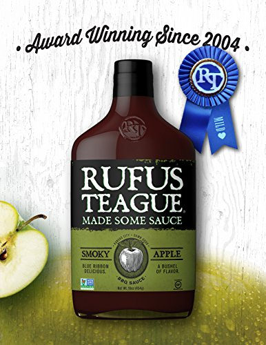 Rufus Teague- Smoky Apple BBQ Sauce -16oz. Sweet Rich Flavor