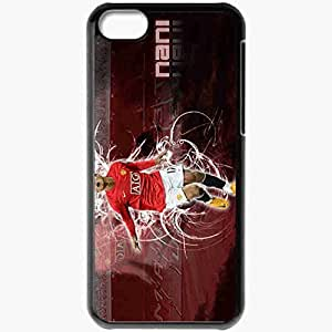 Personalized iPhone 5C Cell phone Case/Cover Skin 3 Manchester United Football Black