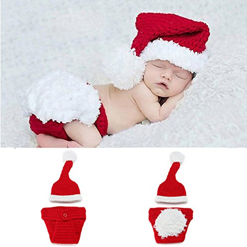 Giantree Il costume bello della foto del fumetto del bambino appena nato ha impostato il costume di fotografia del crochet del knit di natale della Santa