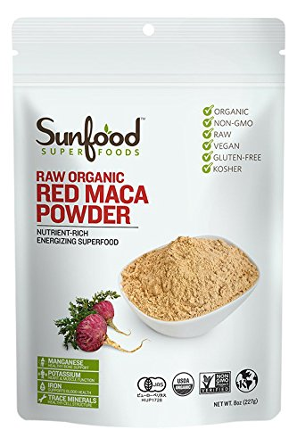 Sunfood - poudre de Maca rouge bio - 8 oz, 100 % certifié biologique