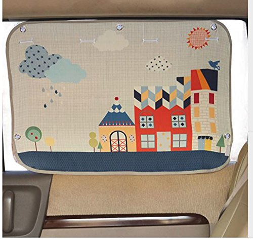 Tokkids Sunshade for car baby - Large Car Sunshade Protector - Blocks over 98% UV Rays Car Sun Visor Protector - Easy to Install (Cute (Safety Sunblock Shade)