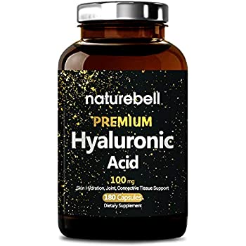 Maximum Strength Hyaluronic Acid 100mg, 180 Capsules, Powerfully Supports Skin Hydration, Joints Lubrication and Hair, Nail, Bone & Cartilage Health.