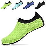 Sixspace Unisex Water Shoes Barefoot Beach Shoes Aqua Socks for Swim Pool Surf Yoga£¬Fluorescent Green 37/38