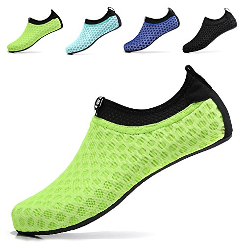 Fluorescent Water - Sixspace Unisex Water Shoes Barefoot Beach Shoes Aqua Socks for Swim Pool Surf Yoga£¬Fluorescent Green 43/44