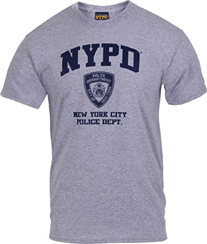 Nypd Physical Training T-shirt - Grey Physical Training NYPD New York City Police Dept Logo T-Shirt