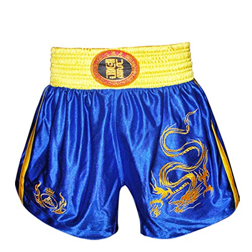 Fochu Men Muay Thai Kick Boxing Uniform Chinese Style Sanda Combat Shorts Clothes Suit