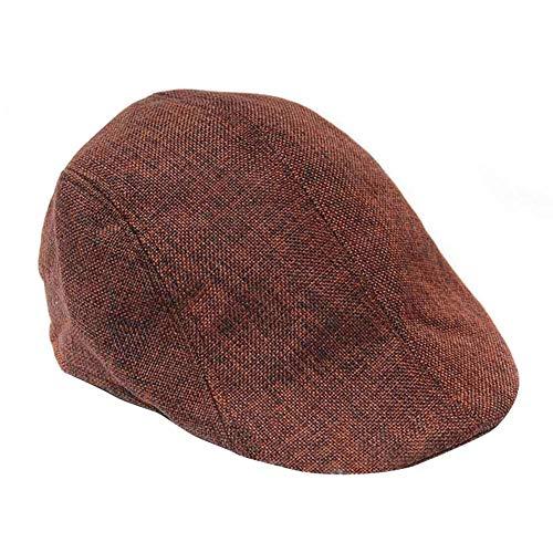EUBUY Unisex Newsboy Flat Cap Gatsby Caps Fashion British Style Peaked Cap Baseball Hat for Women Men Brown -