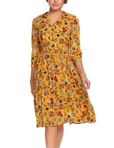Vintage Flower Print Dress - 5