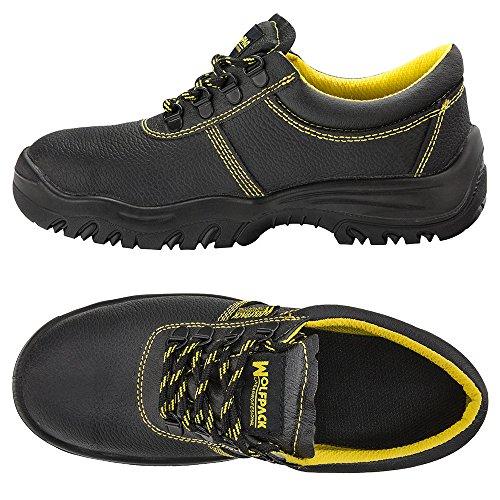 N° cuir protection WOLFPACK Noir nbsp;44 15018140 Chaussures de en 6wqH5
