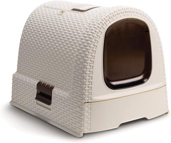 Curver 198849 - Caja de aseo para mascotas, color blanco