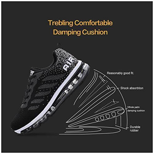 Running Da Fitness Basse Casual Ginnastica Uomo Tqgold® Donna Interior Sportive Sneakers Corsa Scarpe Unisex Nero All'aperto qwIAU1z