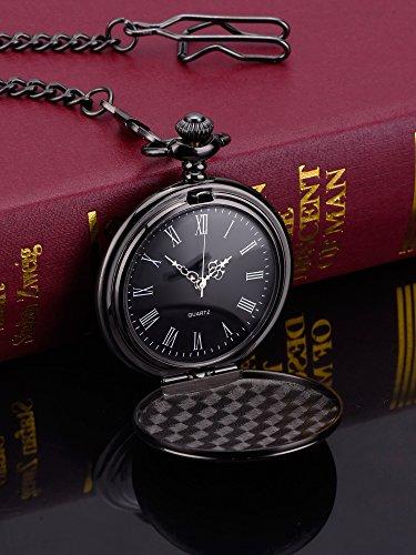 체인과 실버 손목 시계 남성용 Pangda 클래식 블랙 포켓 시계/Pan..