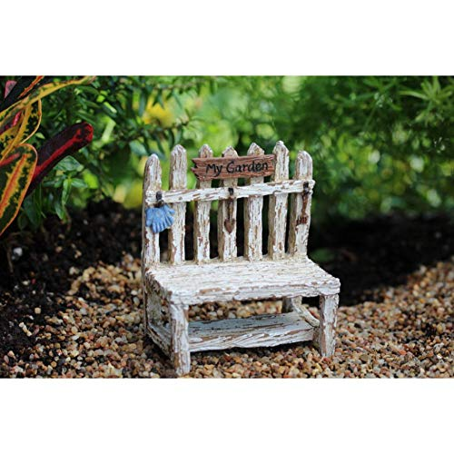 Miniature Dollhouse FAIRY GARDEN - Picket Fence Potting Bench - Accessories (Picket Wings Fence)