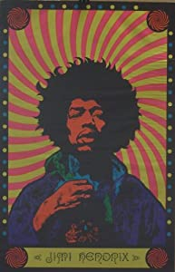 jimi hendrix 22x34 original 60 39 s blacklight poster prints posters prints. Black Bedroom Furniture Sets. Home Design Ideas