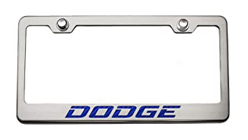 "Custom ""Dodge License Plate frame-dark azul"