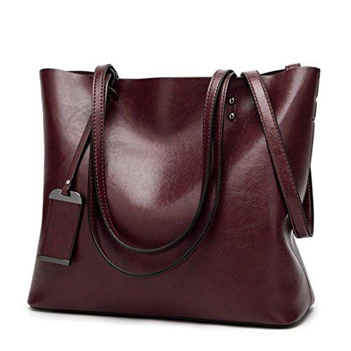 à Femmes sac Sacs sacs cuir main Sac Green Designer Dame Bolsas main à capacité Coffee en bandoulière Sacs bandoulière à grande FYwxxq8