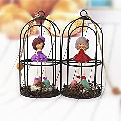Decoration Creative Korean Styles Bird Cage Ornaments House Nest Home Supply New Accessories Iron Hanging Gift Metal Craft