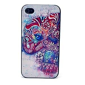 MOFY- Acuarela Elefantes Patr—n tapa dura para el iPhone 4/4S
