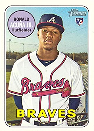 Image result for 2018 topps heritage ronald acuna jr