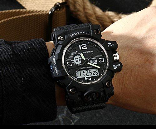 Amazon.com: 2016 New Brand SANDA Fashion Watch Men G Style Waterproof Sports Military Watches Shock Mens Luxury Analog Quartz Digital Watch (Black): Health ...