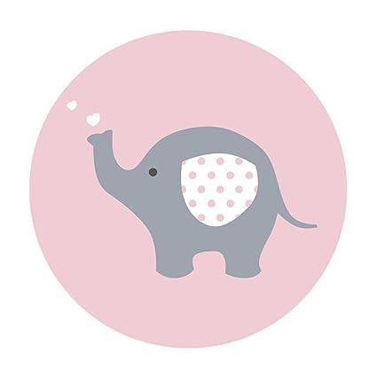 Amazon Com Magjuche Pink Grey Elephant Baby Shower Stickers Girl 2