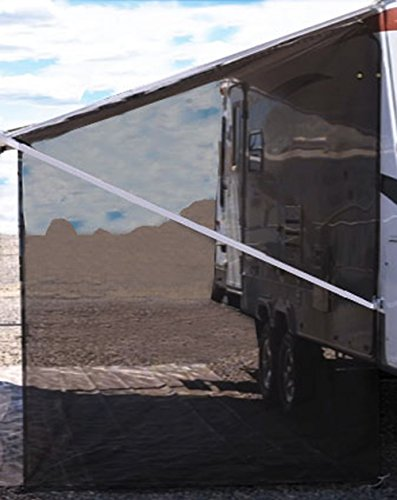 Tentproinc RV Awning Side Sun Shade Net 9'×7' Black Complete Kits Drop Motorhome Trailer Sideblocker Screen Retractable Tarp Mesh Canopy Shelter - 3 years Guarantee Limited