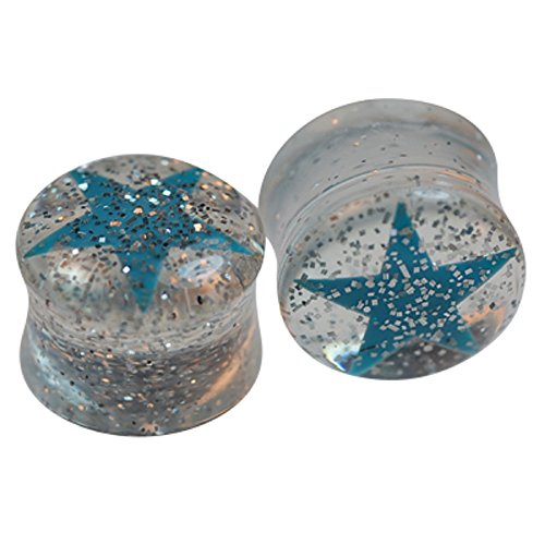 aqua glitter plugs - 5