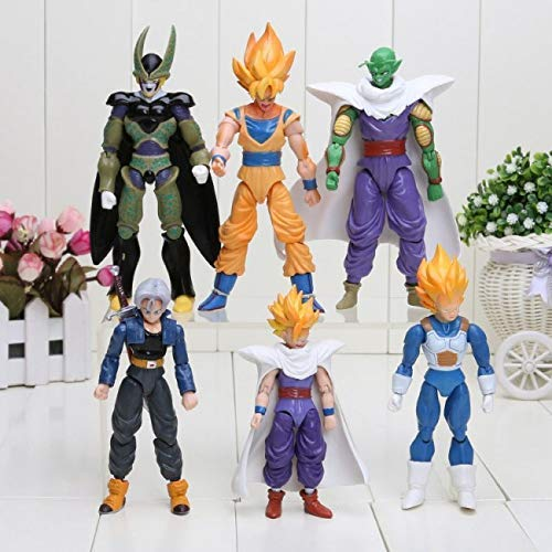 Super Dragon Stars Toys Set 6 pcs Goku Action Figure: Goku Gohan Vegeta Trunks Super Saiyan Piccolo Cell DBZ 6X 5