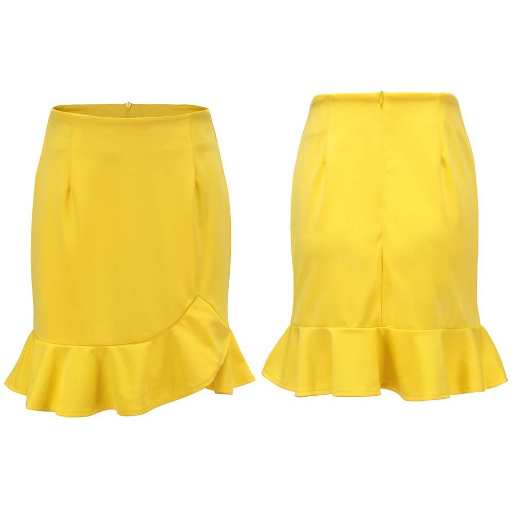 Elegante falda de verano con volantes para mujer, falda corta de ...