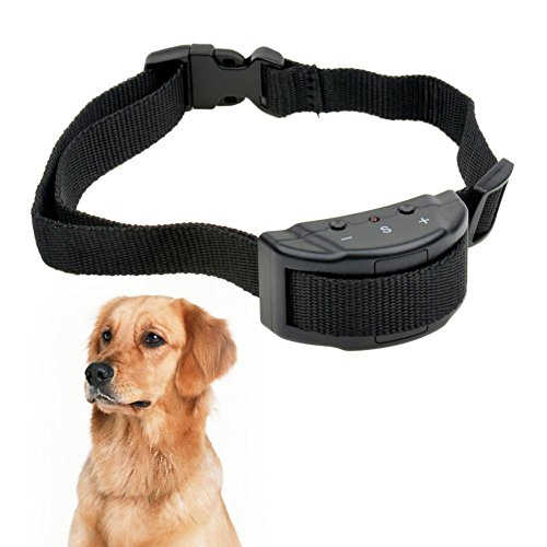 [Pansupply 7 Sensitivity Dog training collar for stop barking anti barking collar electrical static shock collar] (Shock Treatment Costumes)