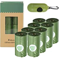 MILETONYA Eco-Friendly Dog Poop Bags,8 Rolls/120 Bags Extra Thick and Strong Poop Bags for Dogs, Lavender-scented…