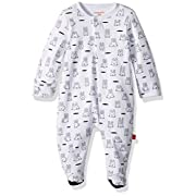 Magnificent Baby Baby Infant Magnetic Footie, Whack a Mole Black/White, NB