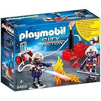 Playmobil 5337-City Action-flughafenlöschfahrzeug con luz y sonido