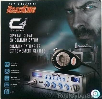 Redman CB Tuned RoadKing RK 5640 CB Radio with 2 1A USB Charging