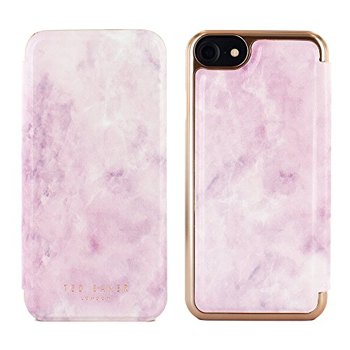 Official TED BAKER® AW17 Mirror Folio Style Case for iPhone 8 / 7 , High Quality Fashion Branded Mirror Case Cover for Professional Women
